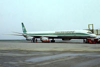 N4866T @ EHAM - Douglas DC-8-63 [46089] (Trans International Airlines) Amsterdam-Schiphol~PH 12/05/1979. From a slide.