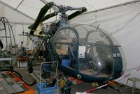 05 @ LFBO - SNCASE SE-3130 Alouette II Marine, Under restoration,  Preserved at Ailes Anciennes Museum, Toulouse-Blagnac - by Yves-Q