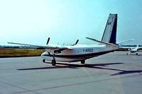 I-ARBO @ EDDH - Aero Commander 680T Turbo Commander [1564-20] Hamburg-Fuhlsbuettel~D 08/06/1982. From a slide.