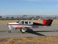 N11GG @ KRHV - Locally-based and really sharp looking 1959 Beech M35 Bonanza @ Reid-Hillview Airport, San Jose, CA - by Steve Nation