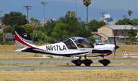 N917LA @ KRHV - California-based 2007 Sportstar Plus landing runway 31R at Reid Hillview Airport, San Jose, CA. - by Chris Leipelt