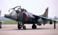 XW927 @ EGDY - BAe Systems Harrier T.4 [212015] (Royal Air Force) RNAS Yeovilton~G 31/07/1982. From a slide.