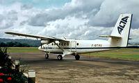 F-BTAU @ LFBV - De Havilland Canada DHC-6-200 Twin Otter [153] (Air Limousine TA) Brive-La-Gaillarde-La Roche~F 22/09/1982. From a slide.