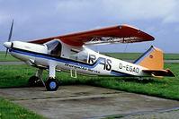D-EGAO @ EDRK - Dornier Do.27B-3 [2200] (Rheingau Air Service) Koblenz Winningen~D 08/05/1983. From a slide. - by Ray Barber