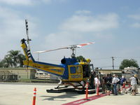 N205VC @ CMA - 1969 Bell 205A-1, one 1,400 shp AVCO Lycoming TS313A TurboShaft derated to 1,200 shp for takeoff, Ventura County Sheriff Dept. Aviation Unit #8, quite the attraction, based at CMA. - by Doug Robertson