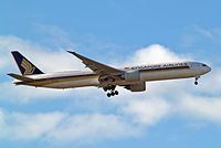 9V-SWA @ EGLL - 9V-SWA   Boeing 777-312ER [34568] (Singapore Airlines) Home~G 30/04/2015. On approach 27L. - by Ray Barber