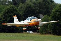 D-EFJC @ EBDT - Bölkow Bö209 taking off from Schaffen-Diest (fly-in 2015) - by Van Propeller