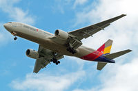 HL7755 @ EGLL - Boeing 777-28EER [30861] (Asiana Airlines) Home~G 22/06/2015. On approach 27R.