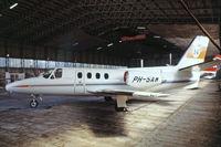 PH-SAW @ EHRD - Cessna Citation I [500-0225] (Schreiner Airways) Rotterdam~PH 29/08/1976. From a slide.