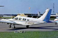 F-BVOA @ LFCS - Piper PA-34-200 Seneca  [34-7450132] Bordeaux-Leognan-Saucats~F 15/05/1990. From a slide.