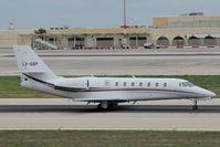 LX-GSP @ LMML - Cessna 680 Sovereign LX-GSP - by Raymond Zammit