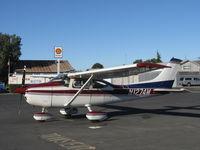 N1274M @ SZP - 1975 Cessna 182P SKYLANE, Continental O-470-S 230 Hp, on transient line - by Doug Robertson