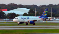 UNKNOWN @ KATL - Spirit A319 taking off from Atlanta - by Ronald Barker