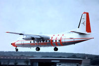 I-ATIL @ EGLF - Fokker F-27-200 Friendship [10324] (ATI Aero Transporti Italiani) Farnborough~G 10/09/1976. From a slide.