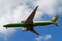 B-16707 @ EGLL - Boeing 777-35EER [33751] (EVA Air ways) Home~G 12/07/2010. On approach 27R. - by Ray Barber