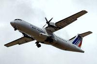 F-GPOD @ EGLL - Aerospatiale ATR-72-202 [361] (Airlinair/Air France) Home~G 11/07/2010, On approach 27R.