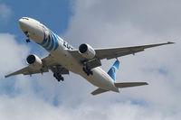 SU-GDM @ EGLL - Boeing 777-36NER [38285] (EgyptAir) Home~G 05/07/2010. On approach 27R.