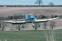 G-BAKM @ X5FB - Robin DR-400-140 takes off from 26. Fishburn Airfield, March 29th 2009. - by Malcolm Clarke