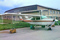 OE-DOO @ LOWW - Cessna T.210N Turbo Centurion [210-63080] Vienna-Schwechat~OE 04/05/1983. From a slide.