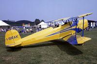 I-BRAK @ EGSU - Aero C-104 Jungmann [128] Duxford~G 10/07/1983. From a slide.