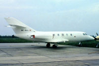 OE-GLL @ LOWW - Dassault Falcon 20E-5 [307] Vienna-Schwechat~OE 04/05/1983. From a slide . Not the best of images.