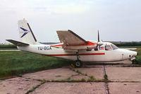 YU-BGA @ LOWW - Aero Commander 500S Shrike Commander [1874-47] Vienna-Schwechat~OE 04/05/1983. From a slide.