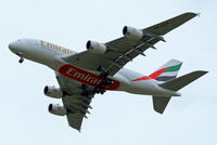 A6-EEF @ EGLL - Airbus A380-861 [113] (Emirates Airlines) Home~G 11/05/2013. On approach 27R. - by Ray Barber