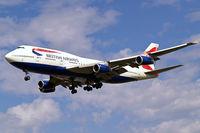 G-BNLY @ EGLL - Boeing 747-436 [27090] (British Airways) Heathrow~G 01/09/2006. On finals 27L.