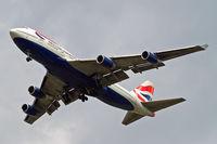G-BNLY @ EGLL - Boeing 747-436 [27090] (British Airways) Home~G 14/05/2010. On approach 27R.