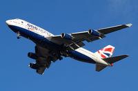 G-CIVI @ EGLL - Boeing 747-436 [25814] (British Airways) Home~G 18/01/2011. On approach 27R.