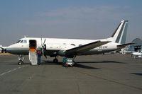 D2-EXB @ FAGM - Grumman G-159 Gulfstream I [166] Johannesburg-Rand~ZS 07/10/2003