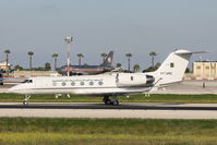 7T-VPC @ LMML - Gulfstream IV 7T-VPC Algerian Air Force - by Raymond Zammit