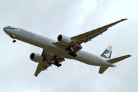 B-KPJ @ EGLL - Boeing 777-367ER [36157] (Cathay Pacific Airways) Home~G 19/05/2010. On approach 27R. - by Ray Barber