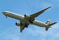 B-KPK @ EGLL - Boeing 777-367ER [36158] (Cathay Pacific Airways) Home~G 20/05/2010. On approach 27R.