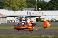 N141C @ 7B9 - Gyroplane starting his takeoff roll. - by Dave G