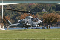 AH-1W @ USNA - Near touch down at U.S. Naval Academy Annapolis MD. - by J.G. Handelman