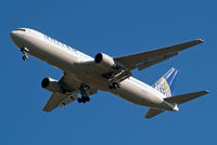 N648UA @ EGLL - Boeing 767-322ER [25285] (United Airlines) Home~G 16/03/2014. On approach 27R.