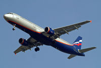 VP-BUP @ EGLL - Airbus A321-211 [3334] (Aeroflot Russian Airlines) Home~G 14/03/2014. On approach 27R.