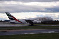 A6-EDJ @ EGCC - rotation off runway 23r, bound for Dubai, - by Jez Poller