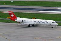 HB-JVC @ LSZH - Fokker F-100 [11501] (Helvetic Airways) Zurich~HB 31/08/14