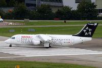 HB-IYU @ EGLL - British Aerospace BAe 146-RJ100 [E3379] (Swiss European Air Lines) Zurich~HB 31/08/2014