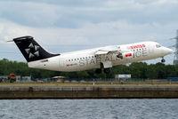HB-IYU @ EGLC - British Aerospace BAe 146-RJ100 [E3379] (Swiss European Air Lines) London-City~G 15/06/2010