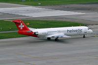 HB-JVE @ LSZH - Fokker F-100 [11459] (Helvetic Airways) Zurich~HB 31/08/2014