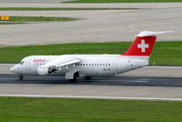 HB-IYW @ LSZH - BAe 146RJ-100 [E3359] (Swiss European Air Lines) Zurich~HB 31/08/2014. Markings now removed from engine cowls.