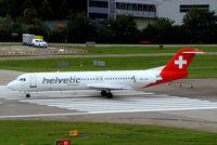 HB-JVG @ LSZH - Fokker F-100 [11478] (Helvetic Airways) Zurich~HB 31/08/2014
