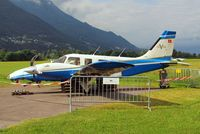 HB-LTH @ LSZL - Piper PA-34-220T Seneca V [3449040] Locarno~HB 29/08/2014. Cancelled after crashing in a forced landing after take-off 05-06-2014
