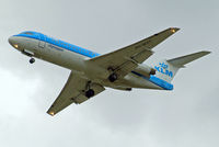 PH-WXC @ EGLL - Fokker F-70 [11574] (KLM cityhopper) Home~G 18/08/2014. On approach 27R.