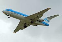 PH-WXC @ EGLL - Fokker F-70 [11574] (KLM cityhopper) Home~G 18/08/2014. On approach 27R.