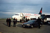 C-GCPY @ YVR - Jean Chretien (future Canadian Prime Minister) and Mrs.Chretien arrive in Vancouver,2000. - by metricbolt