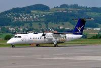 OE-LSB @ LSZB - De Havilland Canada DHC-8Q-314 Dash 8 [525] (Intersky) Bern Belp~HB 23/07/2004